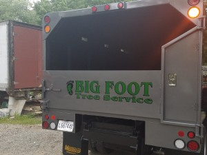 back of big foot tree service truck